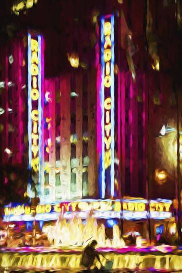 Radio City Music Hall IV - In the Style of Oil Painting-Philippe Hugonnard-Giclee Print