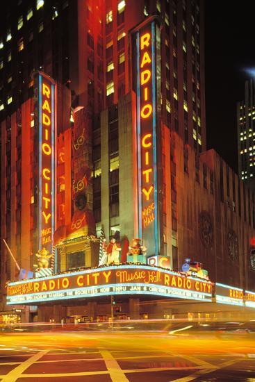 Radio City Music Hall, Manhattan, New York, USA-Peter Bennett-Photographic Print