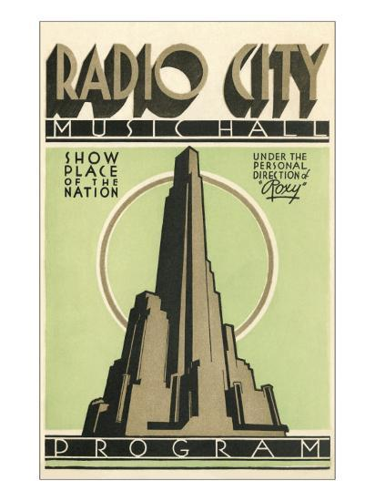 Radio City Music Hall Program, New York City--Art Print