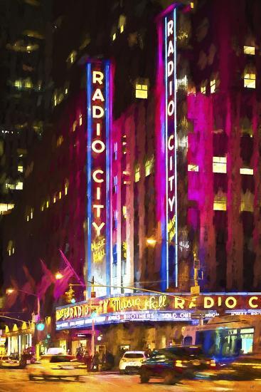 Radio City Music Hall-Philippe Hugonnard-Giclee Print