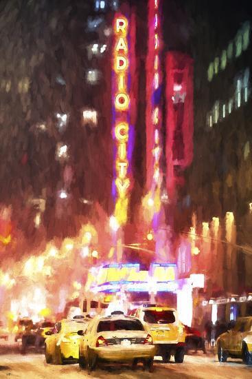 Radio City Taxis-Philippe Hugonnard-Giclee Print