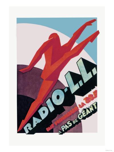 Radio, L.L.: Modern Running Man--Art Print
