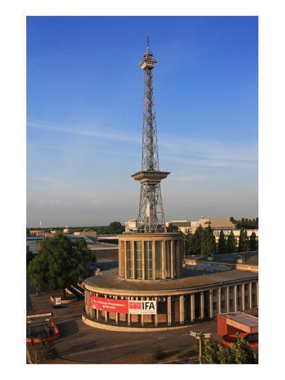 Radio Tower called Langer Lulatsch, meaning Lanky Lad, on the Exhibition Grounds in Berlin, Germany--Art Print