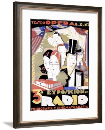 Radio-Achille Luciano Mauzan-Framed Giclee Print