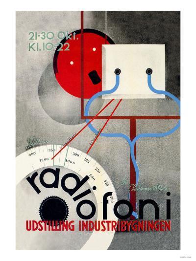 Radiofoni Udstilling Industribygningen--Art Print