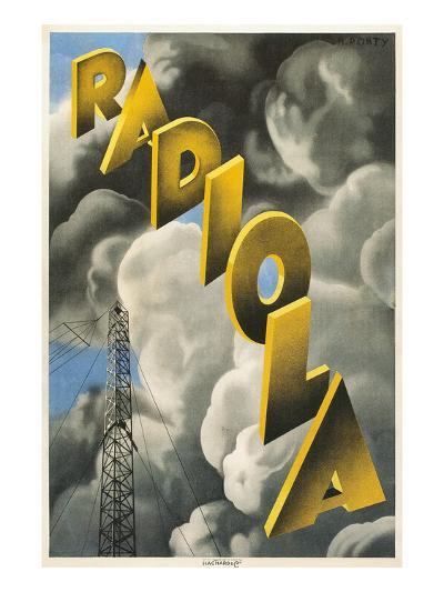 Radiola, Clouds and Tower--Art Print