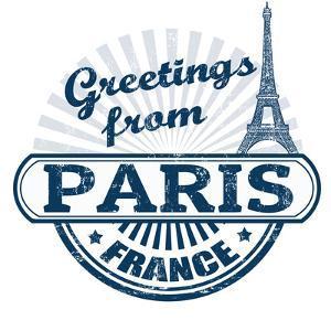 Greetings From Paris Stamp by radubalint
