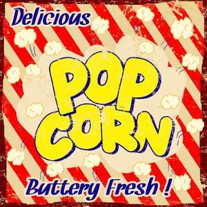 Pop Corn Vintage Poster by radubalint