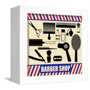 Vintage Barber And Hairdresser Silhouette Set by radubalint