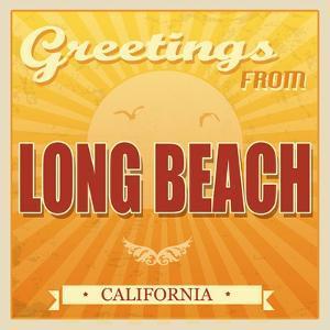 Vintage Long Beach, California Poster by radubalint