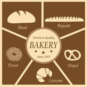 Vintage Poster Of Bakery by radubalint