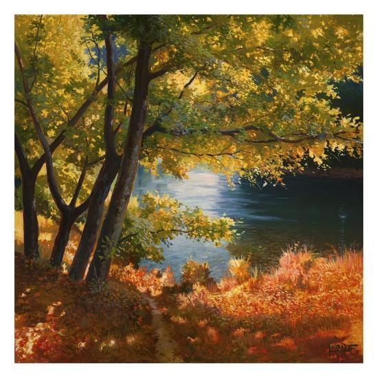 Radura sul fiume-Adriano Galasso-Art Print