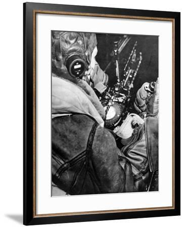 RAF Bomb-Aimer at His Position; Second World War, 1943--Framed Photographic Print