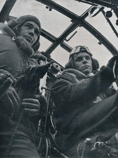 RAF bomber pilot and second pilot, 1941-Unknown-Photographic Print