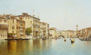 The Grand Canal with the Rialto Bridge, Venice by Rafael Senet