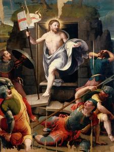 Resurrection by Raffaellino Del Colle