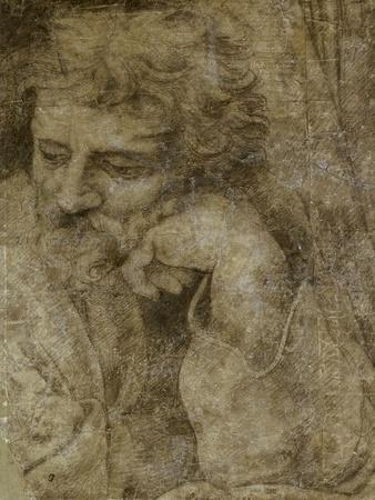 Etude de la tête de saint Joseph, pour la Sainte Famille de François Ier