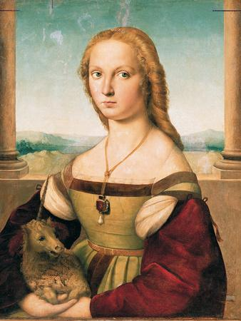 Portrait of a Young Woman (Lady with a Unicorn)