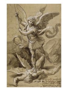 Saint Michel combattant le Démon by Raffaello Sanzio
