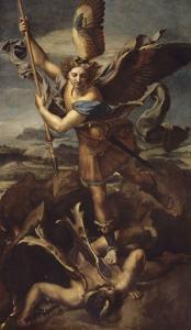 Saint Michel terrassant le démon dit Le Grand Saint Michel by Raffaello Sanzio