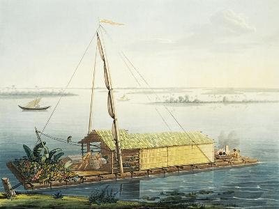 Raft on Guayaquil River, Ecuador-Alexander Von Humboldt-Giclee Print