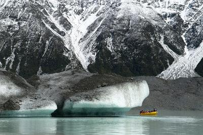 Raft on the Tasman Glacier Terminal Lake, South Island, New Zealand-David Noyes-Photographic Print