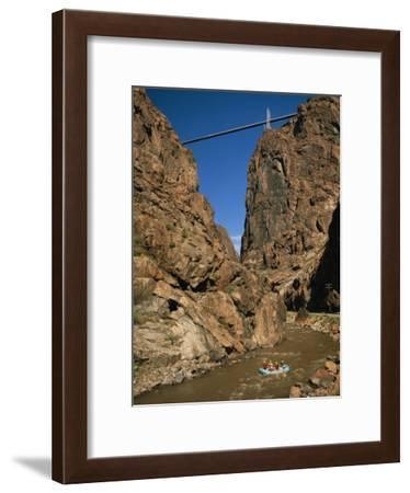 Rafting on the Arkansas River Below the Royal Gorge Bridge-Richard Nowitz-Framed Photographic Print