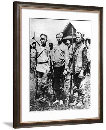 Ragged Soldiers of the Bolshevik Army, 1917--Framed Photographic Print