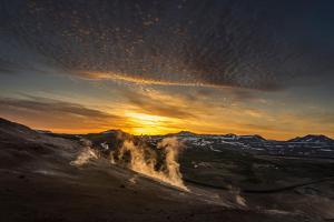 Geothermal Hot Springs, Mud Pots and Fumaroles, Namaskard Close to Lake Myvatn, Northern, Iceland by Ragnar Th Sigurdsson
