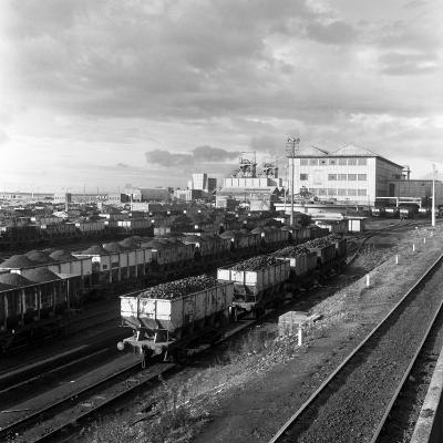 Rail Trucks Loaded with Coal Leaving Lynemouth Colliery, Northumberland, 1963-Michael Walters-Photographic Print