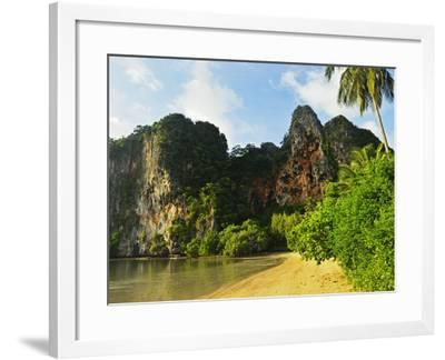 Railay East Bay, Rai Leh (Railay), Andaman Coast, Krabi Province, Thailand, Southeast Asia, Asia-Jochen Schlenker-Framed Photographic Print