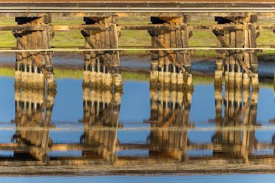 Railroad Bridge Reflection-Lee Peterson-Photo