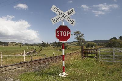 Railroad Crossing--Photographic Print