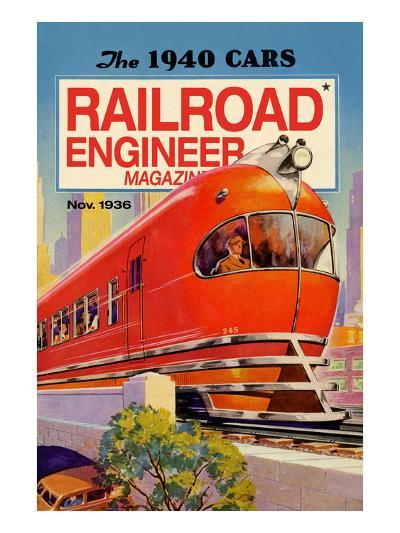 Railroad Engineer Magazine: the 1940 Cars--Art Print