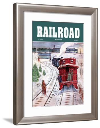 Railroad Magazine: December Trains, 1951--Framed Art Print