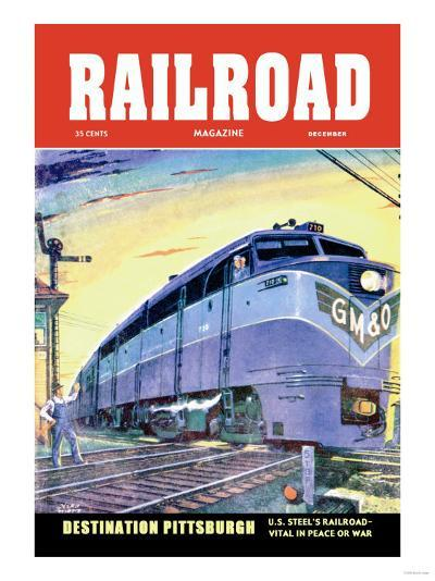 Railroad Magazine: Destination Pittsburgh, 1952--Art Print
