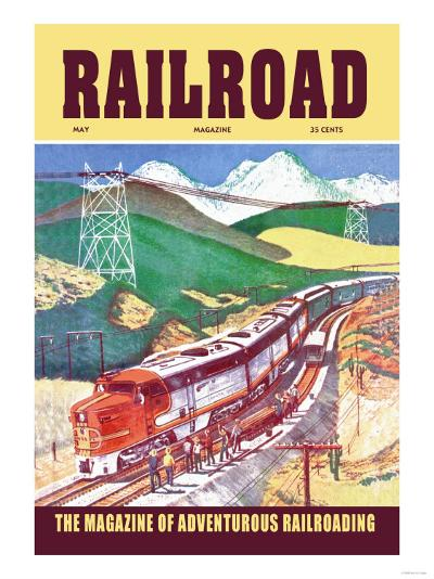 Railroad: The Magazine of Adventurous Railroading, 1954--Art Print
