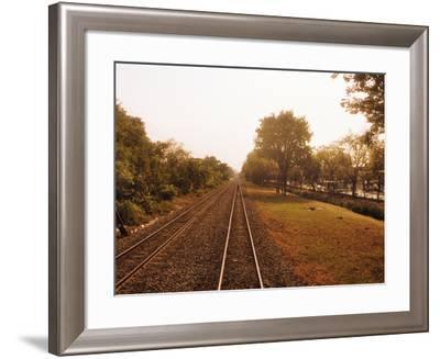 Railroad Track, Bangkok, Thailand--Framed Photographic Print