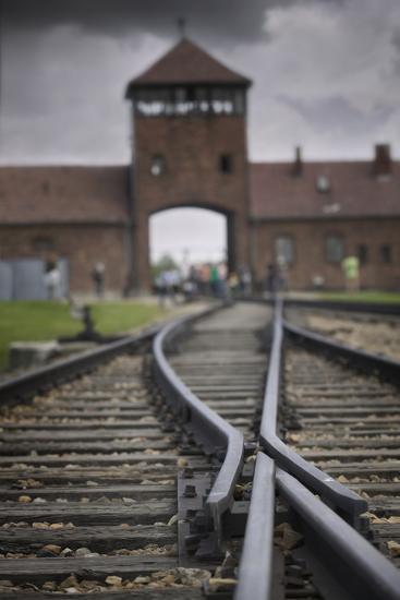 Railroad Tracks Leading into KL Auschwitz II-Jon Hicks-Photographic Print
