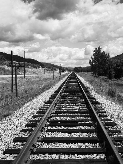 Railroad Tracks Stretching into the Distance-Philip Gendreau-Photographic Print