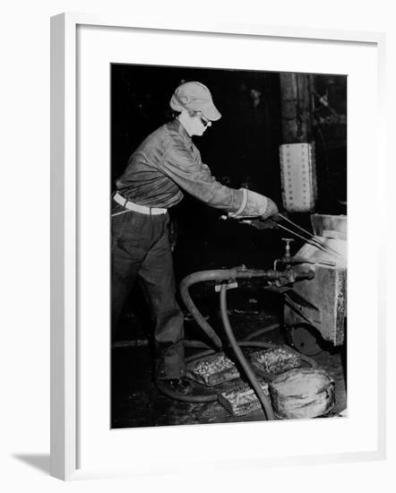Railroad Women: Heating Rivots--Framed Photographic Print
