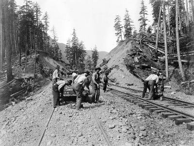 Railroad Workers, Circa 1919-Asahel Curtis-Giclee Print