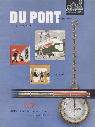 Railroads, Front Cover of the 'Dupont Magazine', January-February 1949--Giclee Print