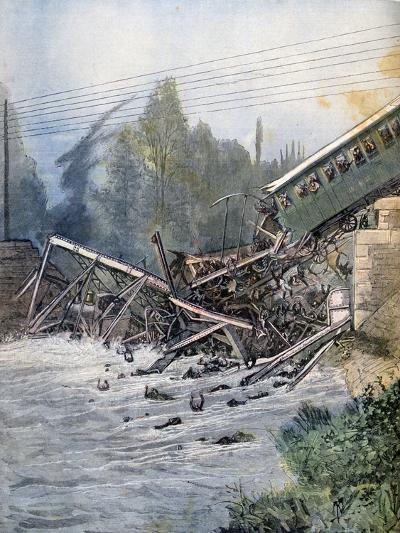 Railway Accident, Munchenstein, Switzerland, 14th July 1891--Giclee Print