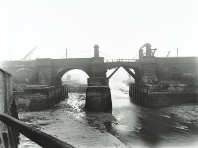 Railway Bridge across Deptford Creek, London, 1913--Photographic Print