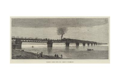 Railway Bridge over the Ganges at Rajghaut--Giclee Print