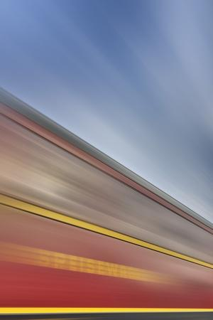 Railway Car, Lettering, Dining Car, Heaven, Sky, Blur-Harald Schšn-Photographic Print