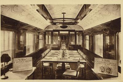 Railway Carriage in Which Was Signed the Armistice Treaty--Photographic Print