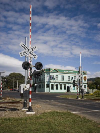 Railway Crossing, Shannon, Manawatu, North Island, New Zealand, Pacific-Smith Don-Photographic Print
