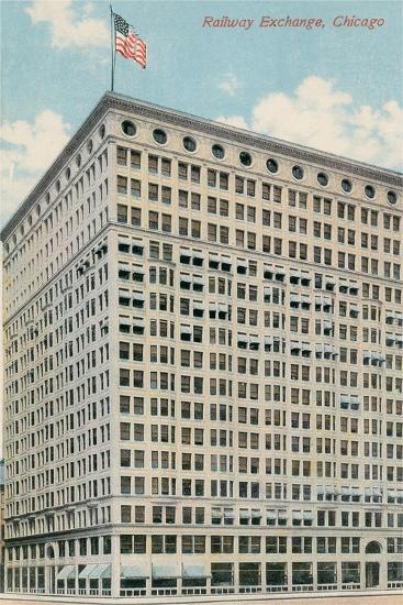 Railway Exchange Building--Art Print